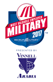 United Rentals award – 2017 Most Valuable Employers for Military