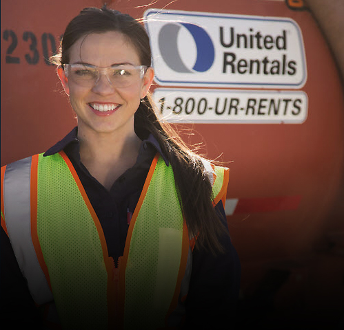 United Rentals career areas
