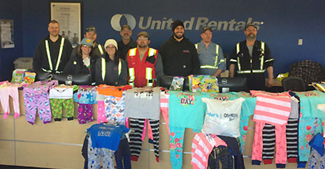 United Rentals - Rebuilding Together Pajama and Book Drive